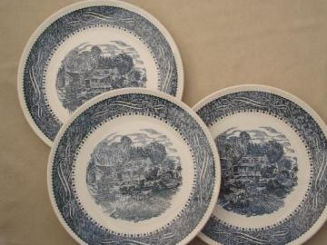 Currier & Ives Taylor, Smith & Taylor dinner plates, vintage TS&T china
