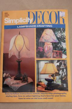 DIY lampshades, Simplicity home decor booklet Crafting Lampshades step by step