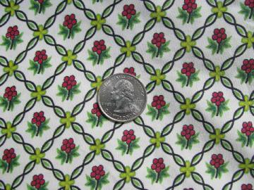 Daisy Mae vintage Waverly print cotton chintz fabric, 7+ yards