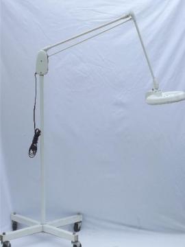 Dazor magnifier work light M-1450-H, vintage industrial  Dazor floating fixture