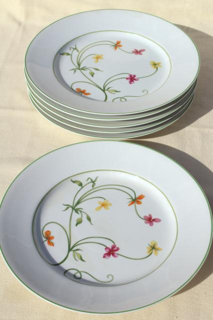 Denby Ss China 70s Vintage Portugal Pottery Dinner Plates Set Of Six