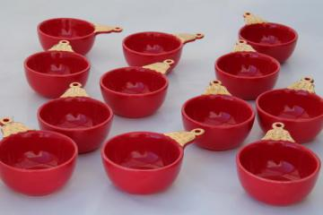 Department 56 Christmas ball bowls, set of 12 red ornament shaped dishes