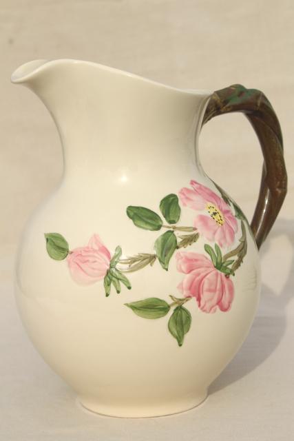 Desert Rose Franciscan pottery, large china pitcher vintage USA ...
