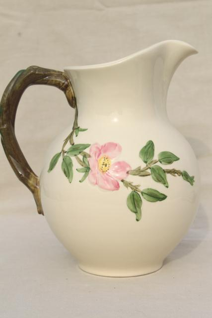 Desert Rose Franciscan Pottery Large China Pitcher