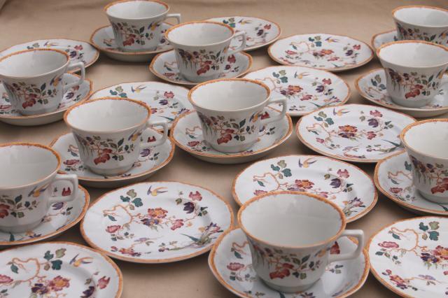 Devon Rose Wedgwood vintage china tea set cups u0026 saucers bread u0026 butter plates & Devon Rose Wedgwood vintage china tea set cups u0026 saucers bread ...
