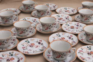 Devon Rose Wedgwood vintage china tea set, cups & saucers, bread & butter plates