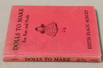 Dolls to Make for Fun & Profit, vintage sewing patterns for stuffed toys rag doll