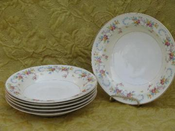 Dubarry vintage Homer Laughlin eggshell nautilus china 6 soup bowls