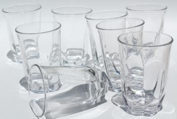 Duncan & Miller Canterbury crystal clear heavy glass tumblers, vintage drinking glasses