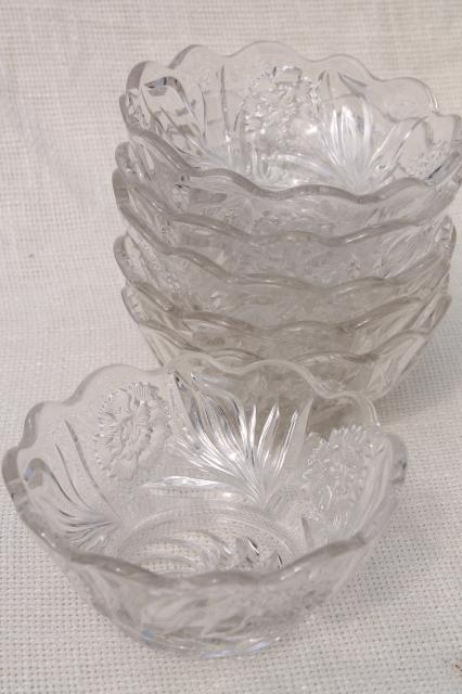 Ice Cream Cart For Sale >> EAPG antique vintage glass berry bowls set, carnation ...