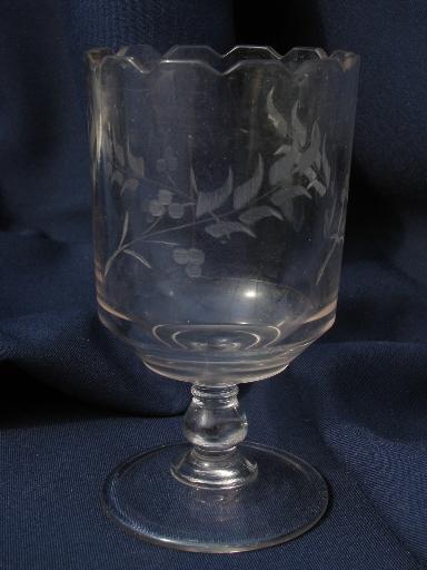 Antique Glass Spooners