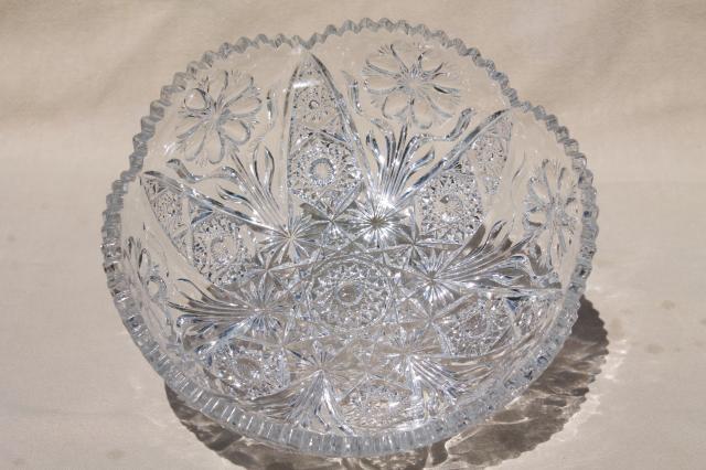 EAPG Vintage Imperial Glass Sawtooth Hobstar Amp Flower
