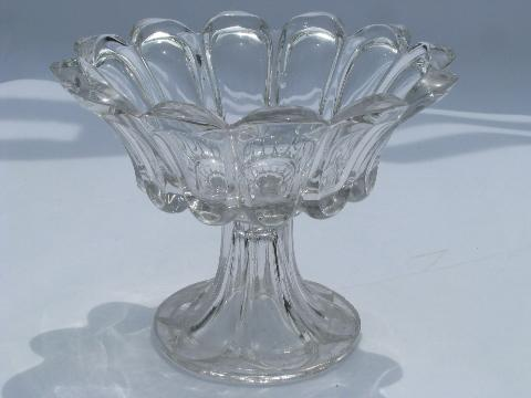 Antique Fluted Glass Bowl