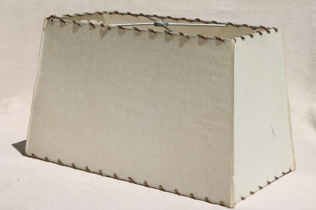 Eames Era Laced Parchment Lampshade, Rectangular Lamp Shade For 50s Vintage  TV Lamp, MCM Lighting