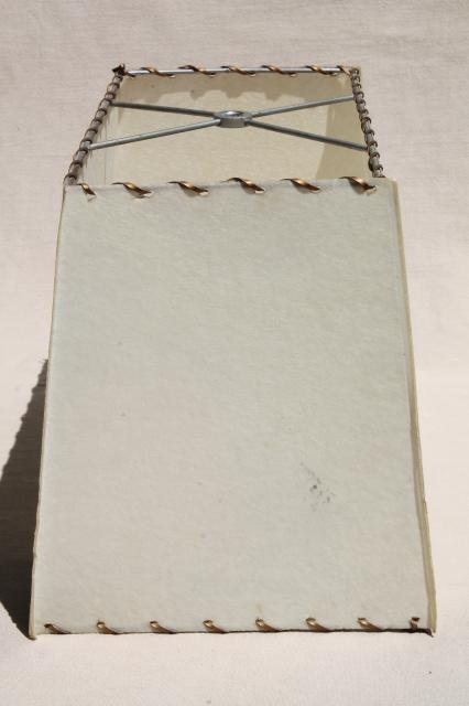 Eames Era Laced Parchment Lampshade Rectangular Lamp