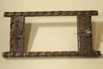 Eastlake antique wood carved frame, ornate old photo frame or frame for vintage postcard