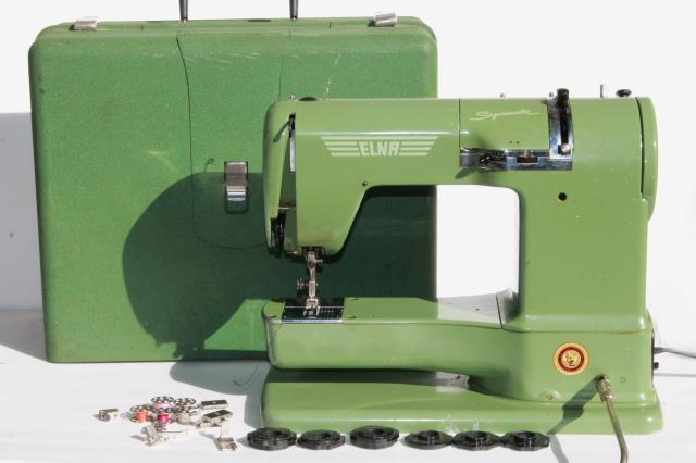 Elna Supermatic Sewing Machine Industrial Vintage Grasshopper Green Inspiration Elna Sewing Machine