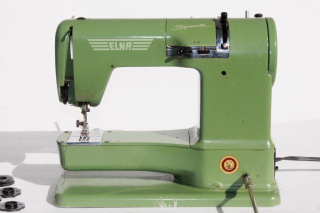 elna green sewing machine
