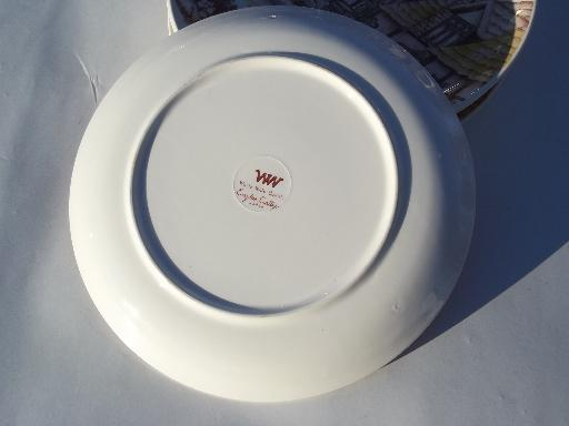 English Cottage vintage china dinner plates, made in Japan