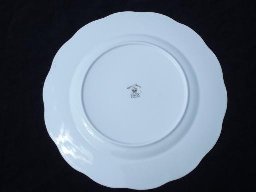 English cottage vintage Queen Anne fine bone china plate, England