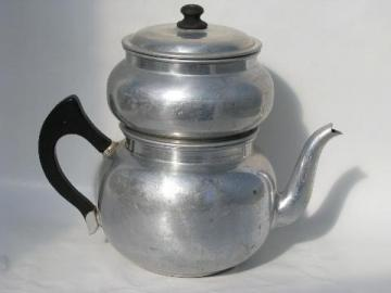 Enterprise aluminum vintage dripolator coffee pot for stovetop
