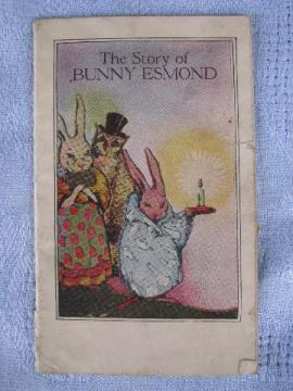 Esmond wool blankets old promotional piece, child's bunny story book