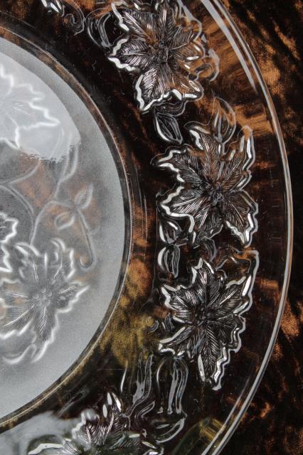 Fantasia Princess House Glass Dinner Plates Vintage