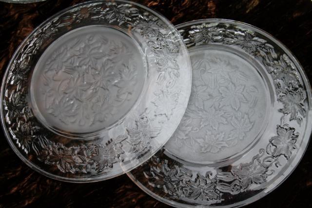 & Fantasia Princess House glass dinner plates vintage estate set of 12