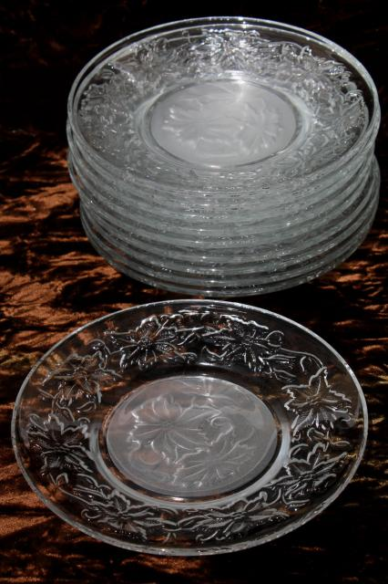 Fantasia Princess House glass dishes set of 10 dessert or bread \u0026 butter plates & Fantasia Princess House glass dishes set of 10 dessert or bread ...