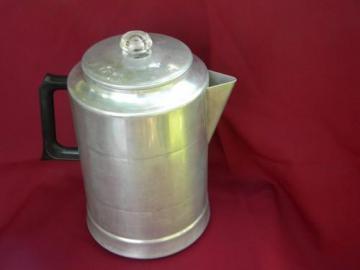 Farmhouse vintage 20 cup Comet aluminum coffee pot percolator