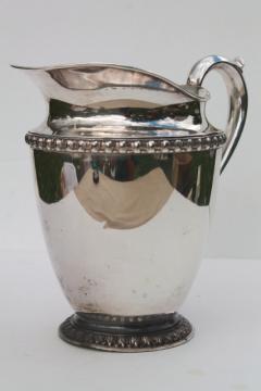 Fenwick pattern silverplate pitcher,vintage Rogers / International Silver