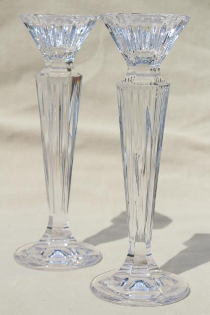 Festivale Waterford Marquis Cut Crystal Tall Candlesticks
