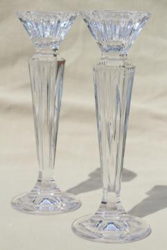 Festivale Waterford Marquis cut crystal tall candlesticks, pair of candle holders