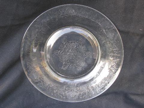 Florentine Pattern Vintage Depression Glass Dinner Plates