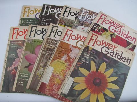 Flower And Garden Mod Vintage Gardening Magazines Back Issues Lot