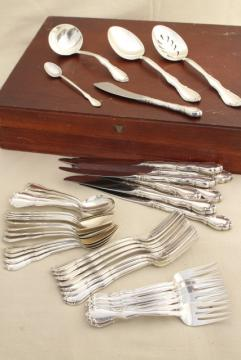Fontana Towle sterling silver flatware, vintage silverware set for 8, extra teaspoons, serving pieces