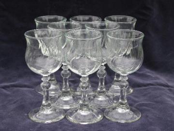 Fostoria / Avon glass water or wine glasses, stemware set
