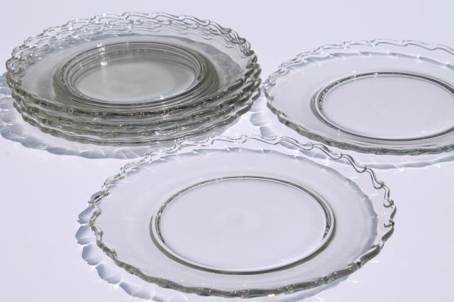 Fostoria Century pattern large dinner plates set of 6 vintage elegant glass  sc 1 st  Laurel Leaf Farm & Fostoria Century pattern large dinner plates set of 6 vintage ...