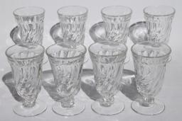 Fostoria Colony glass vintage set of 8 juice glasses fruit parfait glass shape