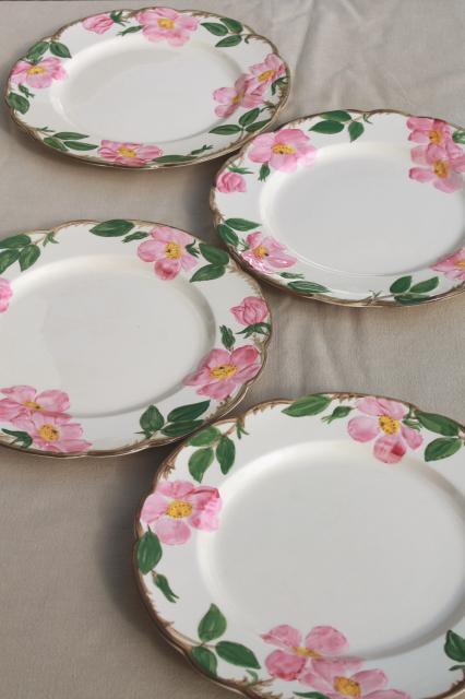 Franciscan Desert Rose USA backstamp vintage dinner plates, lot of four