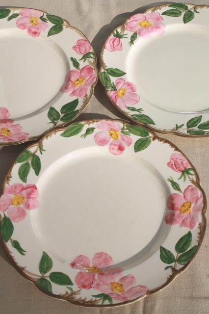 & Franciscan Desert Rose USA backstamp vintage dinner plates lot of four