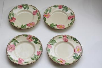 Franciscan Desert Rose china bread plates set of four, vintage California pottery