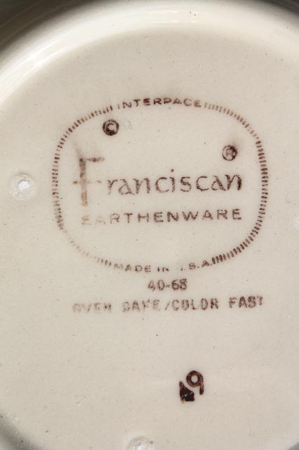 Franciscan Desert Rose cups & saucers set of four, vintage USA backstamp