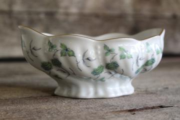 French Royal Limoges Veronese china vintage flower bowl, grey green leaves & clover