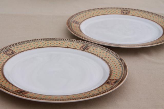 excellent gna fine porcelain plates w gold patterned border set of dinner plates with 10 dinner plates & 10 Dinner Plates. Fabulous Villeroy U Boch New Wave Dinner Plate ...