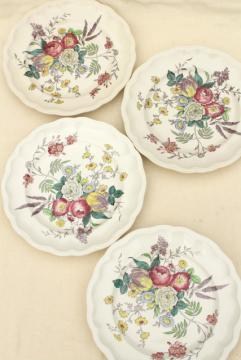 Gainsborough floral Copeland Spode Great Britain vintage china dinner plates