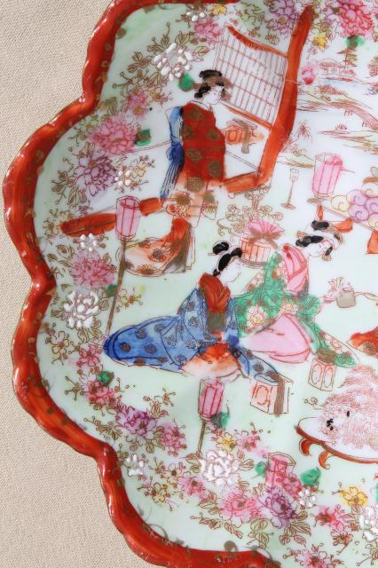 Antiques For Sale Online >> Geisha girl hand-painted china, vintage Japan Geishaware ...
