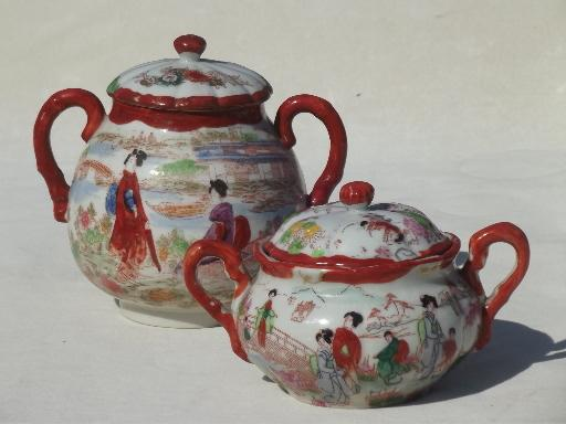Japan Hand Painted Tea Sets Vintage