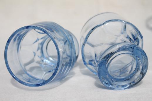 Georgian Pattern Glass Tumblers Vintage Cambridge