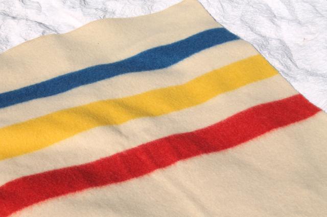 Golden Dawn Hudson S Bay Stripe Blanket Unused Vintage